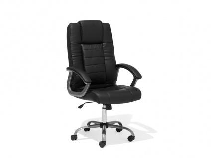 "Designer Leder Chefsessel Massagesessel ""Comfort"" Bürostuhl schwarz mit Massage Luxus Bürosessel Drehstuhl günstig"