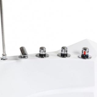 Luxus Whirlpool Badewanne London 135x135 / 140x140 / 157x157 cm mit 21 Massage Düsen + LED + Heizung + Ozon + Glas - Vorschau 3