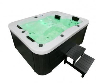 Outdoor Whirlpool Hot Tub Malta mit 27 Massage Düsen + Heizung + Ozon für 2 - 3 Personen Pool Spa günstig