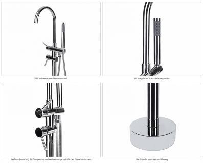 Freistehende Badewanne Haiti schöne Luxus Acryl Wanne für Bad Badezimmer oval Chrom freistehend günstig - Vorschau 5