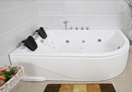 XXL Luxus Whirlpool Badewanne Bali LINKS mit 14 Massage Düsen + Armaturen Spa für Bad linke Eckwanne günstig - Vorschau 2