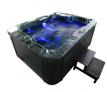 Outdoor Whirlpool Hot Tub Malta mit 27 Massage Düsen + Heizung + Ozon für 2- 3 Personen Spa günstig