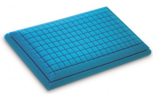 NEU Gel Gelschaum Kopfkissen Blue Memory 80 x 40 x 12 cm Kissen komplett waschbar soft Bauchschläfer + Rückenschläferkissen