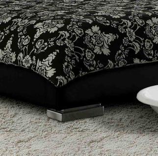"Leder Bett / Polsterbett ""Sina"" niedriges Lederbett weiss oder schwarz versteppt, günstig - Vorschau 3"