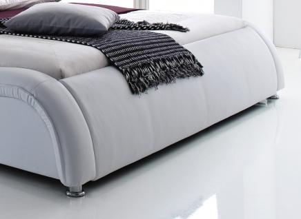 """Designer Lederbett / Polsterbett """"Selina"""" Bett weiss oder schwarz wellenförmiges Design - Vorschau 3"""