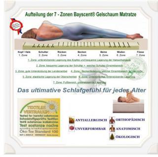 Orthopädische Gel / Gelschaum Kinderbett Baby Matratze 40x90 + 60x120 + 70x140 cm Höhe 14 cm Babymatratze - Vorschau 2