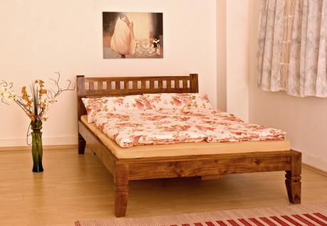"""Massivholz Bett """"Oxford"""" Holzbett Farbe nougat oder honig aus edlem massiven Akazienholz günstig - Vorschau 3"""