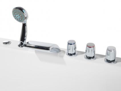 Doppel Whirlpool Badewanne Palermo mit 15 Massage Düsen + LED Beleuchtung Luxus Spa links günstig - Vorschau 3