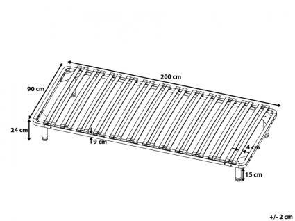 Lattenrost Lattenrahmen Roma freistehend mit Standfüßen 90 / 140 / 160 / 180 x 200 cm Auch OHNE Bett verwendbar - Vorschau 5
