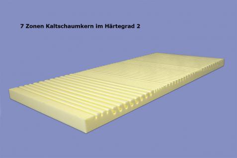 """Viscoelastische 7 Zonen Matratze """"Variation"""" Höhe 22 cm, 6 cm Visco / Visko RG60 mit 12 Härtegrade - Vorschau 4"""