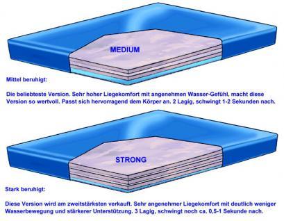 """Wasserbett Matratze """"Exklusiv"""" Höhe 16 cm komplette Wassermatratze mit Beruhigung mittel oder fest günstig - Vorschau 4"""