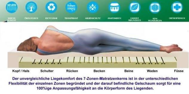 Orthopädische Gel / Gelschaum Kinderbett Baby Matratze 40x90 + 60x120 + 70x140 cm Höhe 14 cm Babymatratze - Vorschau 3