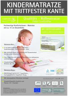 Baby Matratze Kinderbett Kindermatratze 70x140 cm mit Trittkante, Höhe 10 Babymatratze günstig - Vorschau 4