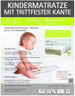 Baby Matratze Kinderbett Kindermatratze 60x120 oder 70x140 cm mit Trittkante Höhe 10 cm Babymatratze günstig - Vorschau 4