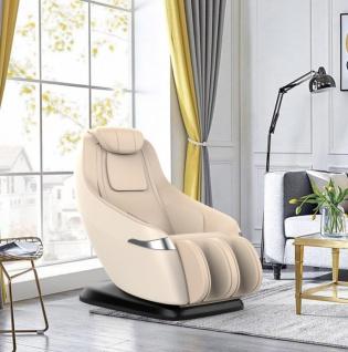 Massagesessel Atlanta Leder Farbe beige mit Rollentechnik Heizung Zero Gravity Funktion günstig