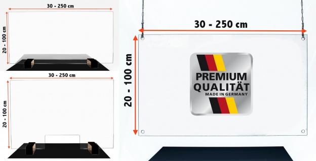 Sanitär Acrylglas Schutzwand Virenschutz Thekenaufsatz Hustenschutz Niesschutz Schutz vor Spucke für Kassen Theken Arztpraxis Apotheke Tankstelle