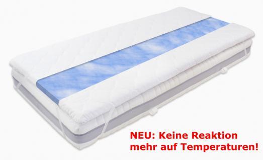 Gel Gelschaum Matratzenauflage Blue Sensation KEINE REAKTION AUF TEMPERATUR Topper Auflage für Matratze Gelauflage