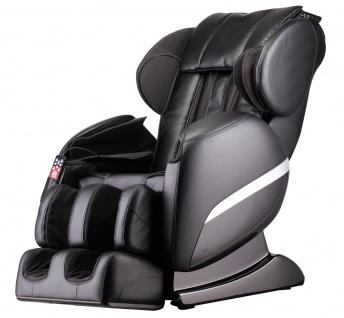 Massagesessel Shiatsu F3000 Zero Gravity Leder Farbe schwarz mit Rollentechnik + Heizung + Fußmassage