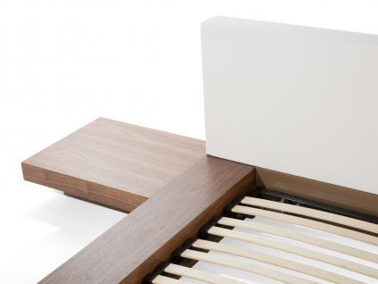 "Design Massivholz Bett ""Japan Style"" 180x200 cm Holz Bett Walnuss Hellbraun mit Lattenrost - Futonbett japanischer Stil - Vorschau 4"