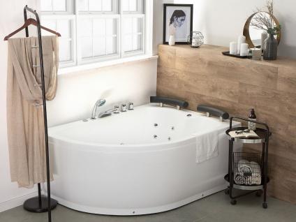 Doppel Whirlpool Badewanne Palermo weiss mit 15 Massage Düsen + LED Beleuchtung Luxus Spa rechts günstig