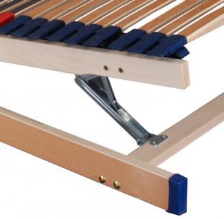 """7 Zonen Lattenrost Lattenrahmen """"DELUXE"""" 45 Federholzleisten Härtegrad + Kopf- und Fußteil verstellbar - Vorschau 5"""