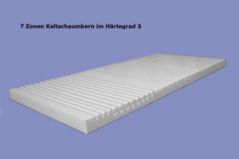 """Viscoelastische 7 Zonen Matratze """"Variation"""" Höhe 22 cm, 6 cm Visco / Visko RG60 mit 12 Härtegrade - Vorschau 5"""