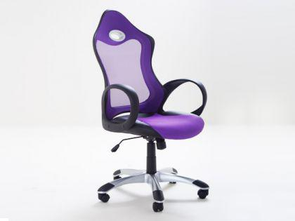 "Designer Chefsessel Bürosessel ""New Age"" Farbe schwarz / weiss oder lila Bürostuhl Computersessel - Vorschau 5"