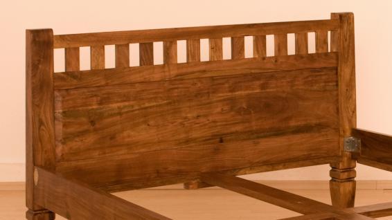 """Massivholz Bett """"Oxford"""" Holzbett Farbe nougat oder honig aus edlem massiven Akazienholz günstig - Vorschau 5"""