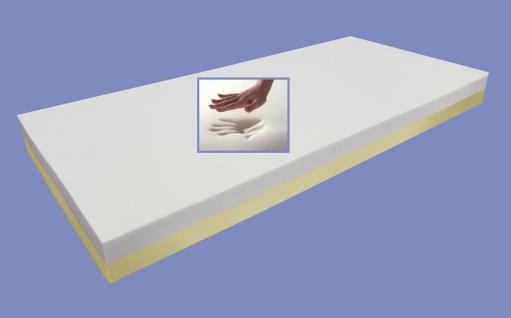 """Viskoelastische Matratze """"Comfort"""" Höhe 18 + 22 cm, 7 cm Visco / Visko RG 60 Alternative zu Kaltschaum günstig - Vorschau 5"""