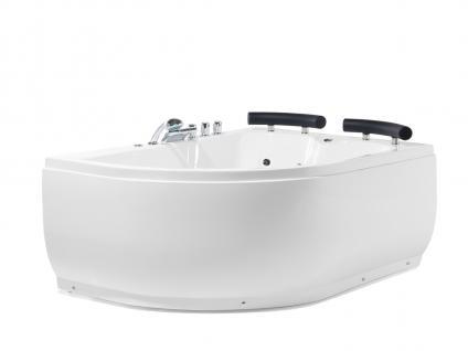 Doppel Whirlpool Badewanne Palermo mit 15 Massage Düsen + LED Beleuchtung Luxus Spa rechts günstig - Vorschau 1