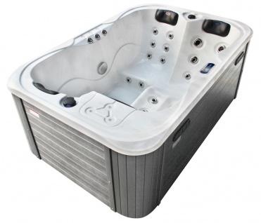 Outdoor Whirlpool Hot Tub Timo weiss mit 29 Massage Düsen Balboa Technik + Heizung + Ozon für 2- 3 Personen Spa