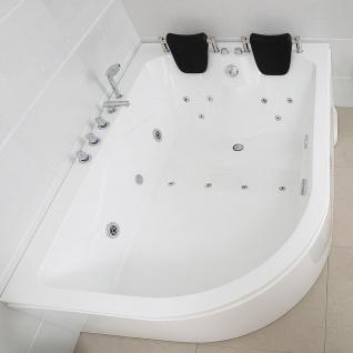 XXL Luxus Whirlpool Badewanne Bali RECHTS mit 14 Massage Düsen + Armaturen Spa für Bad rechte Eckwanne günstig - Vorschau 2