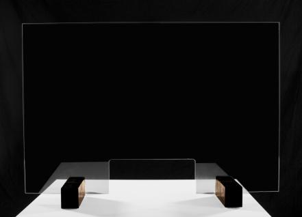 Sanitär Acrylglas Schutzwand Virenschutz Thekenaufsatz Hustenschutz Niesschutz Schutz vor Spucke für Kassen Theken Arztpraxis Apotheke Tankstelle - Vorschau 2