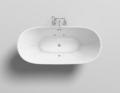 Freistehender Luxus Whirlpool Badewanne Orlando freistehend mit 12 Massage Düsen + LED Spa für Bad - Vorschau 2