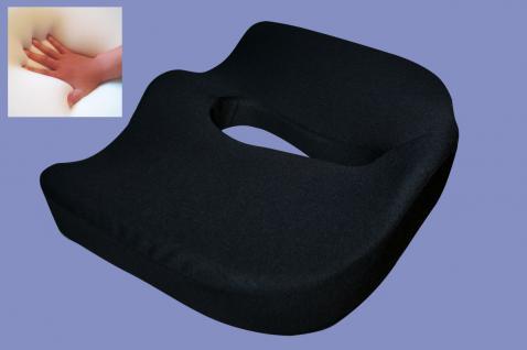 Gel / Gelschaum Hämorriden Sitzkissen Steißbein Sitzpolster für Rollstuhl Stuhl KFZ Kissen 44x38x12 cm