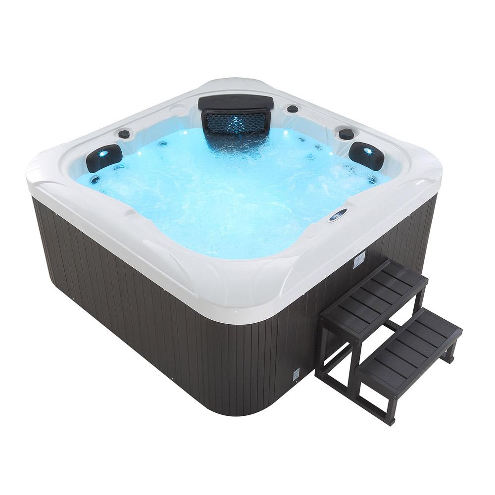 outdoor whirlpool hot tub dubai weiss mit 25 massage d sen heizung ozon f r 4 personen spa. Black Bedroom Furniture Sets. Home Design Ideas