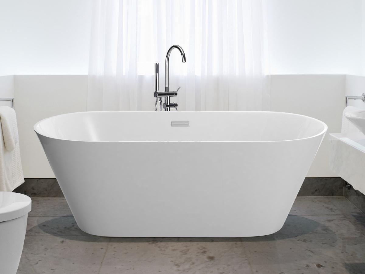 Freistehende badewanne oval günstig  Freistehende Badewanne Hawaii schöne Luxus Acryl Wanne für Bad ...