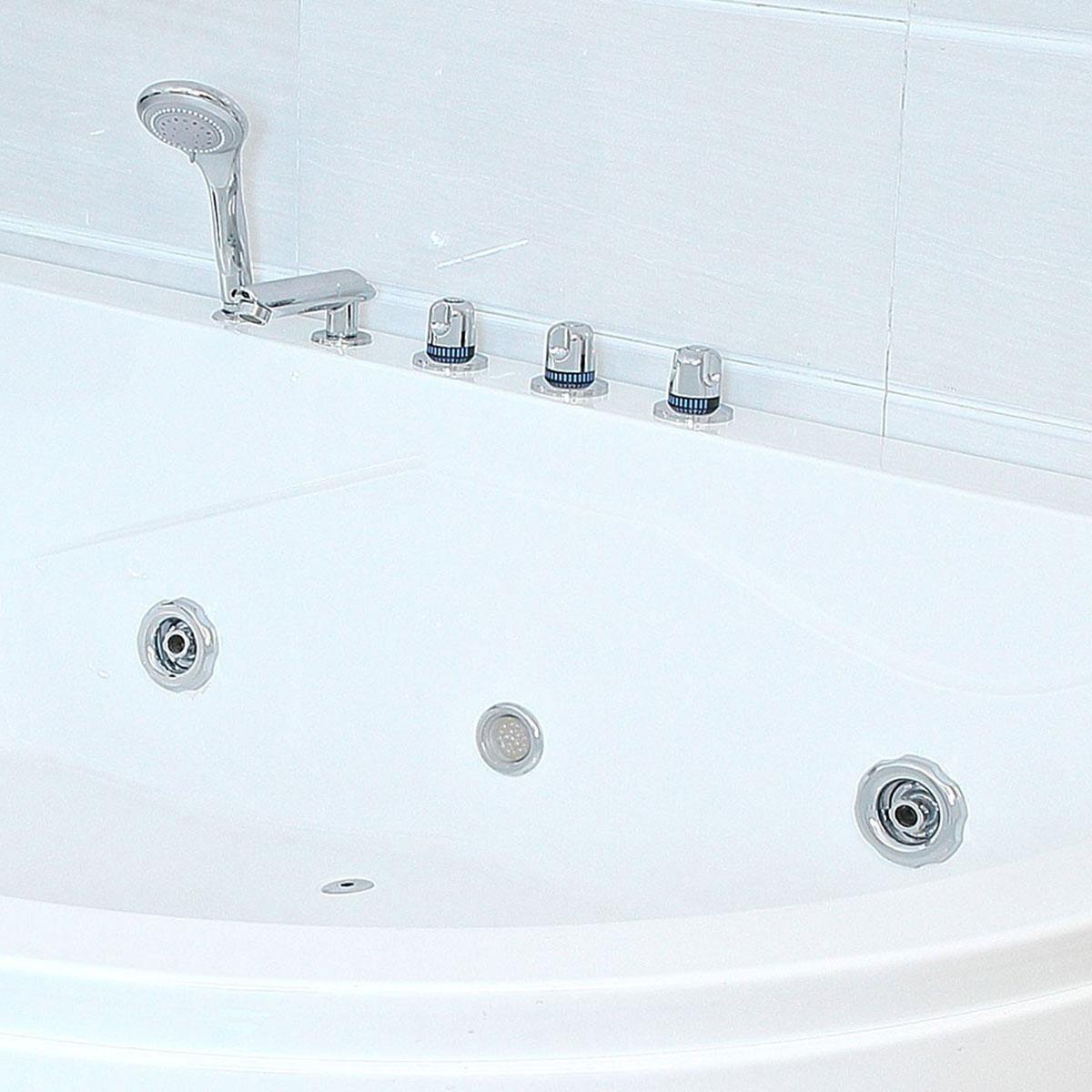 xxl luxus whirlpool badewanne bali links mit 14 massage d sen armaturen spa f r bad linke. Black Bedroom Furniture Sets. Home Design Ideas