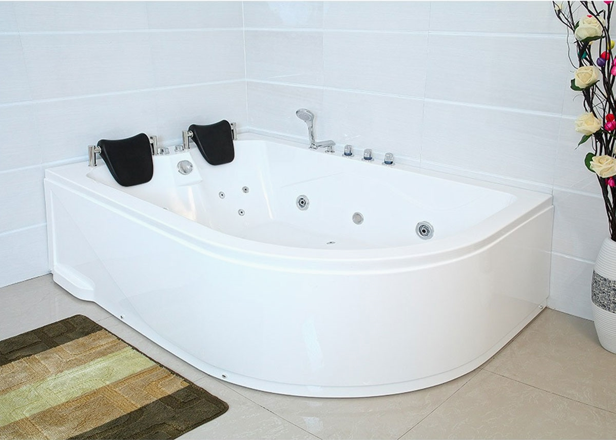 Whirlpool Bad Accessoires : Xxl luxus whirlpool badewanne bali links mit 14 massage düsen