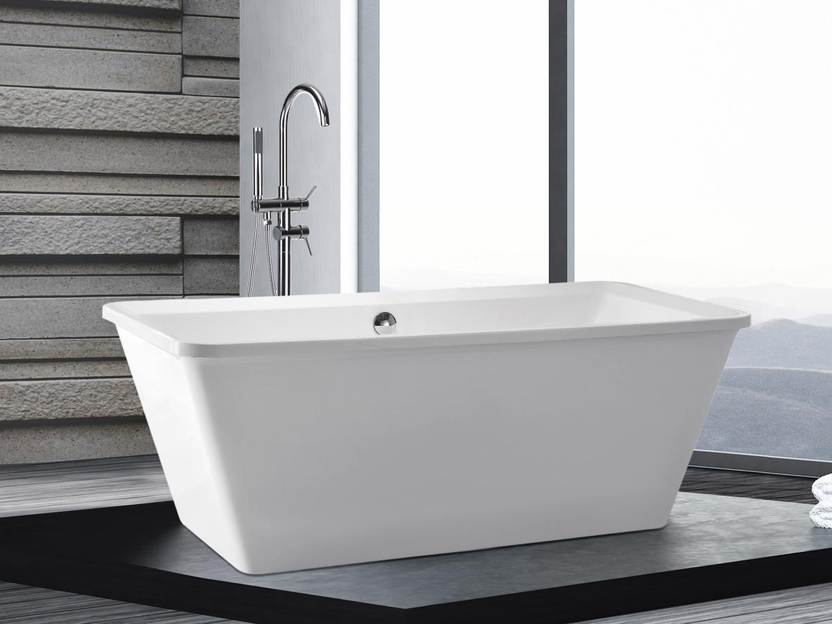 Freistehende Badewanne Amsterdam rechteckig Luxus Acryl Wanne für ...