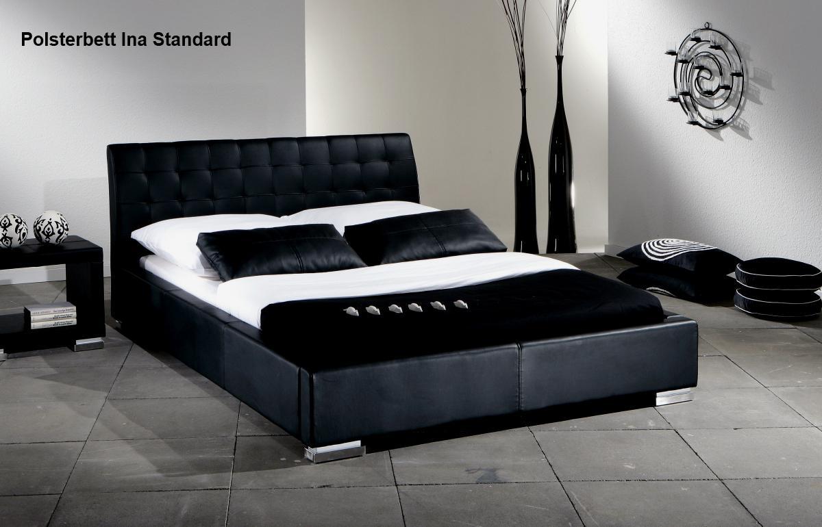 leder bett polsterbett ina lederbett weiss oder. Black Bedroom Furniture Sets. Home Design Ideas