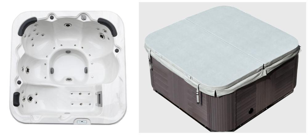 outdoor whirlpool hot tub wei spa venedig mit 44 massage d sen heizung ozon desinfektion. Black Bedroom Furniture Sets. Home Design Ideas
