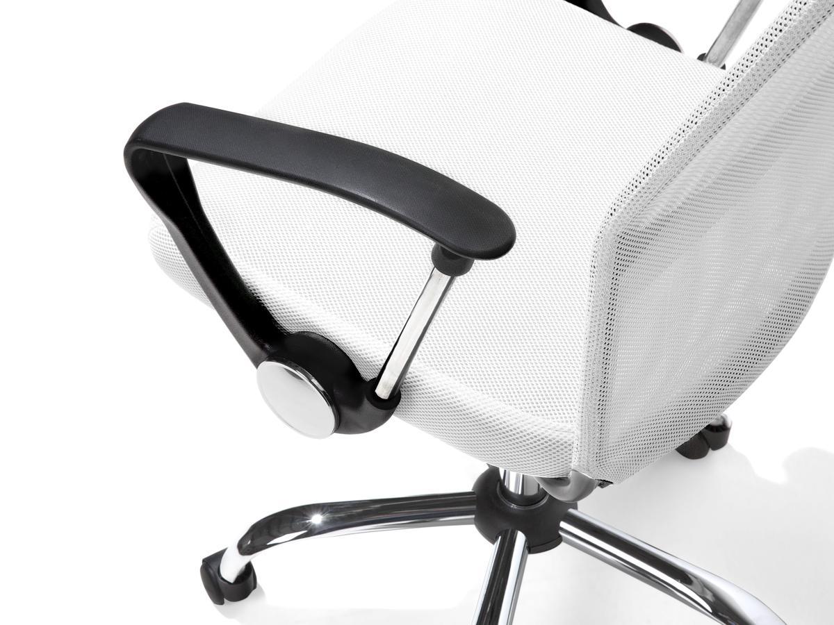 Leder Chefsessel Bürosessel Deluxe Weiss Praxisstuhl Praxissessel