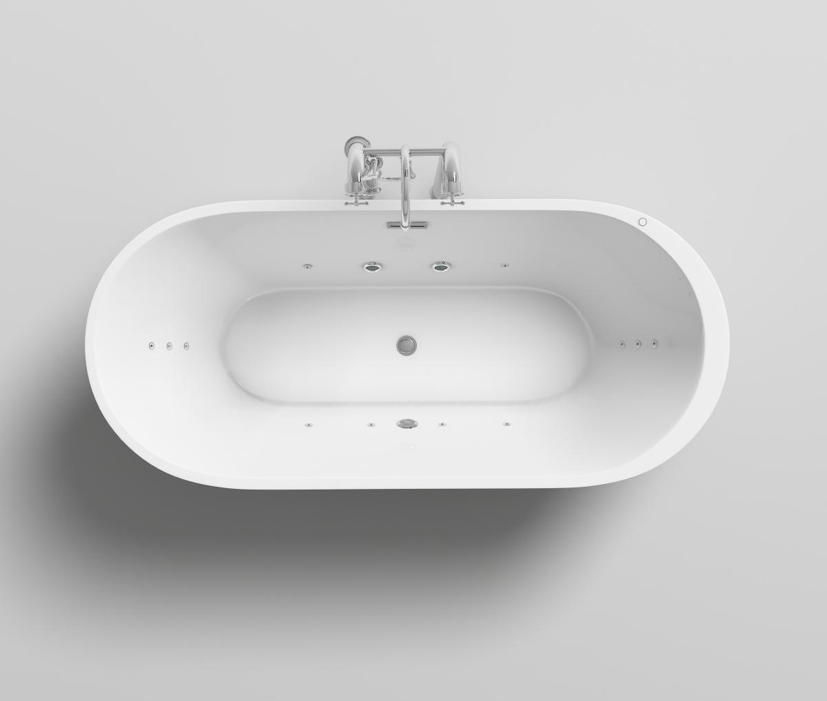 freistehender luxus whirlpool badewanne bern freistehend. Black Bedroom Furniture Sets. Home Design Ideas