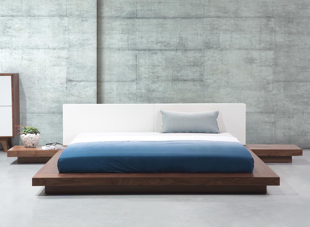 Lattenrost Für Futonbett massives designer bett style 180x200 cm holz bett walnuss