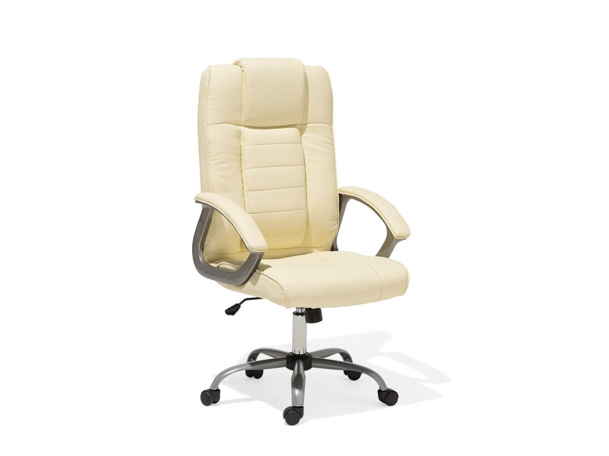 Designer Leder Chefsessel Massagesessel Comfort Bürostuhl Creme