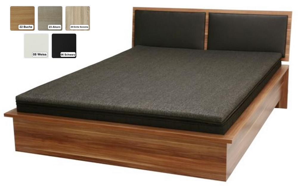 Futon bett wien futonbett holzbett farbe schwarz for Bett holz schwarz