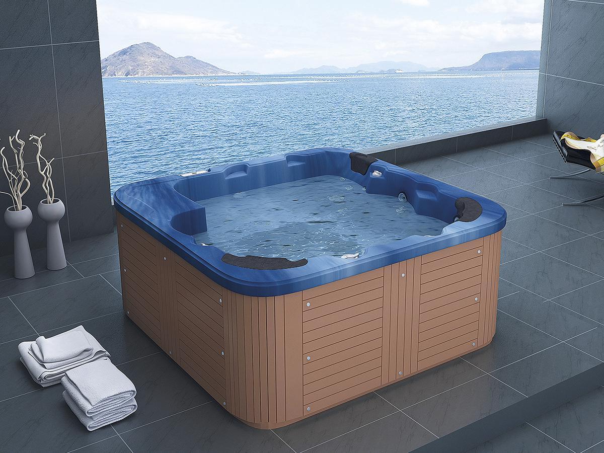 Outdoor Whirlpool Hot Tub Spa Troja mit 44 Massage Düsen + Heizung + ...