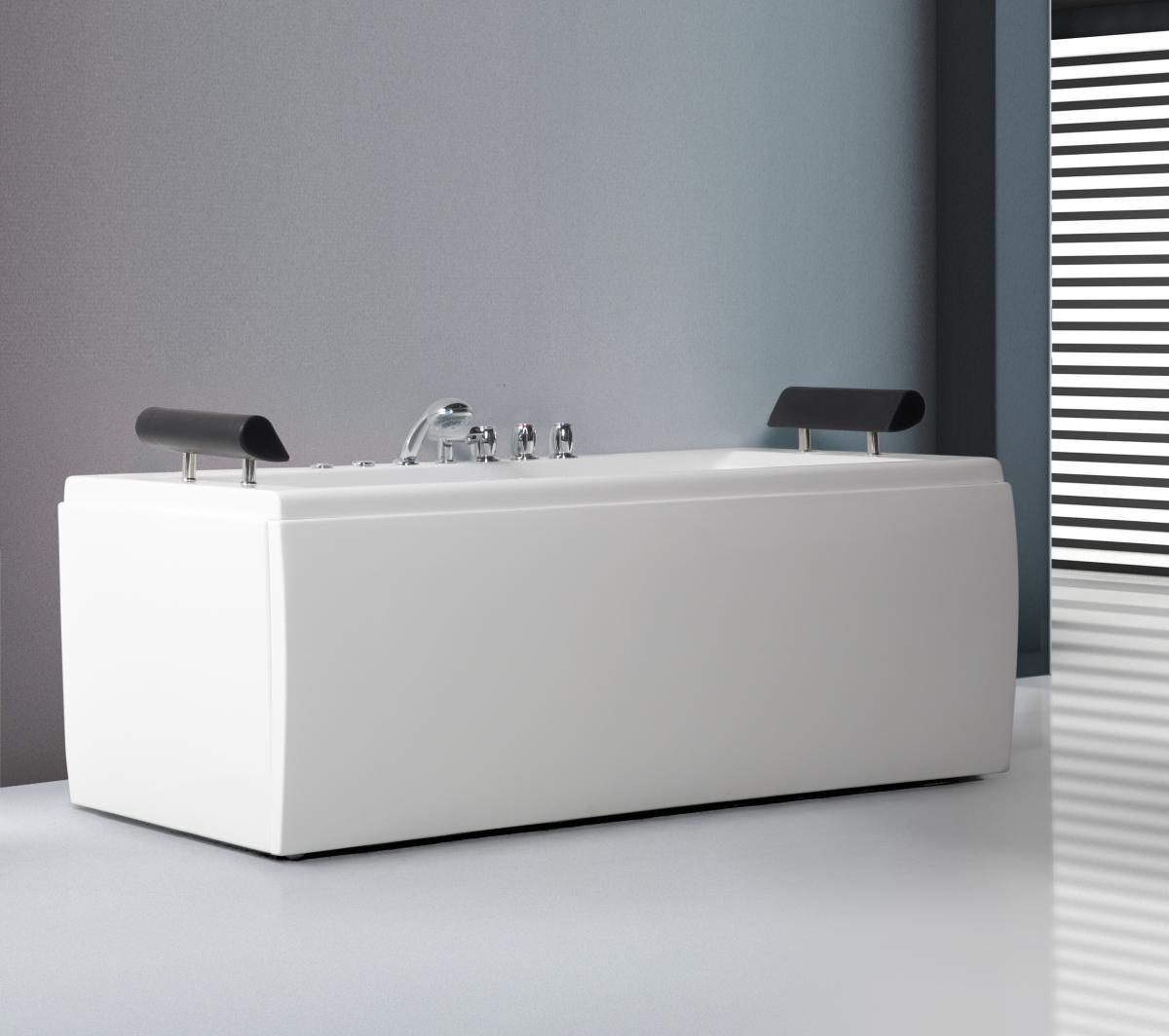 whirlpool badewanne manhattan freistehend mit 14 massage. Black Bedroom Furniture Sets. Home Design Ideas