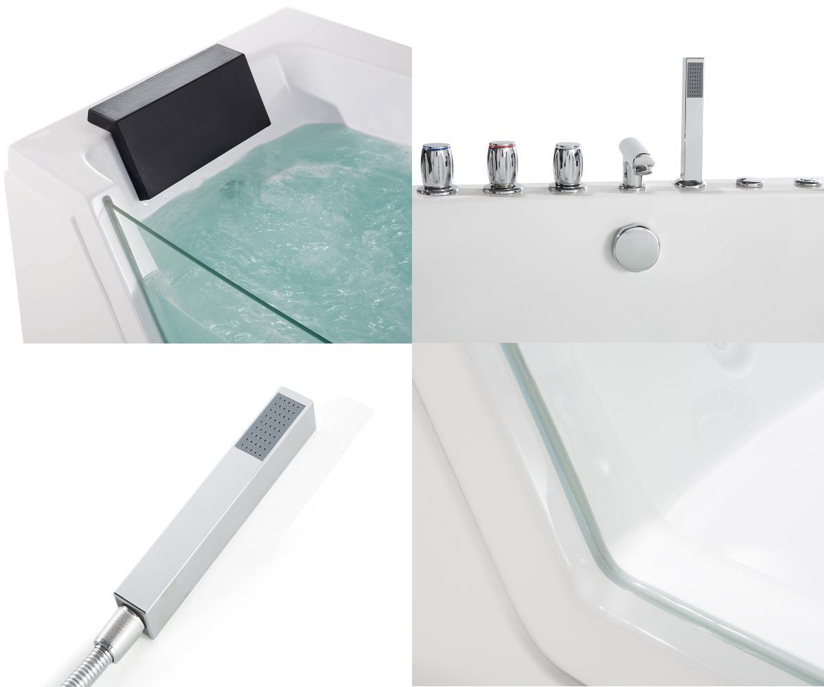 whirlpool badewanne samurai freistehend mit 10 massage d sen led beleuchtung luxus spa innen. Black Bedroom Furniture Sets. Home Design Ideas
